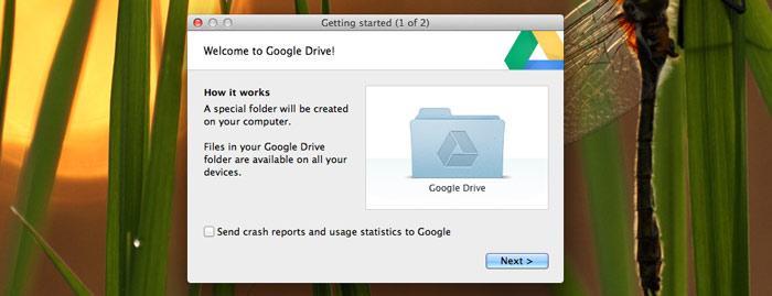 Google Drive App on OS X