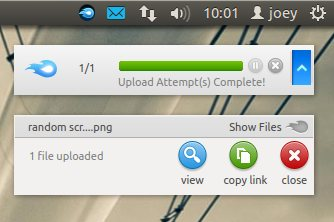MediaFire Express Notifications in Ubuntu 12.04