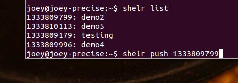 Shelr List and Push commands