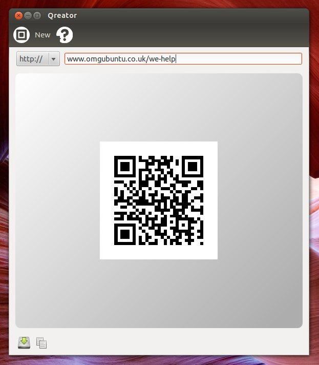 Qreator Qrcode in Ubuntu