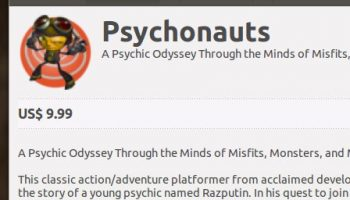 Psychonauts In the Software Center