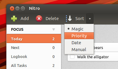 sort nitro tasks in 1.4