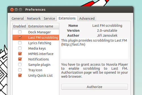 extensions in Nuvola