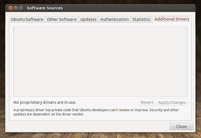 Jockey Driver replacement in Ubuntu 12.10