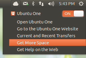Ubuntu's New Sync Menu In Action