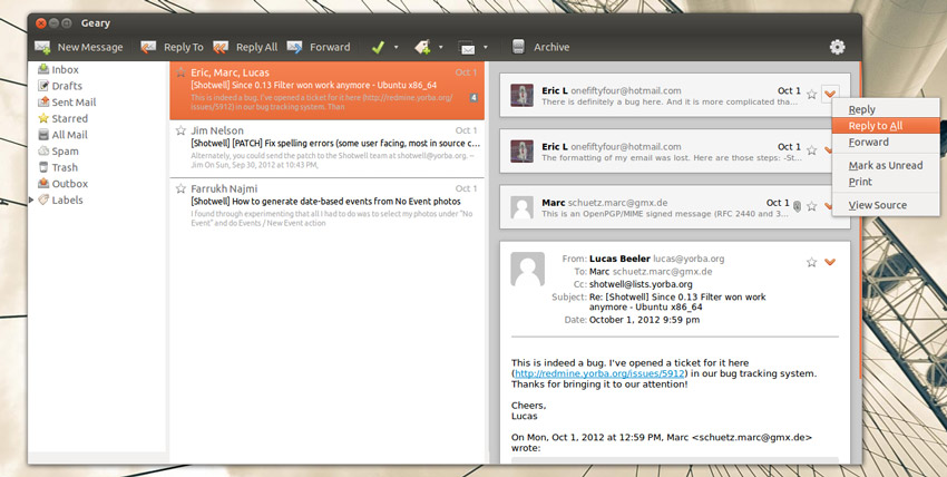 New Version of Linux E-Mail App 'Geary' Released - OMG! Ubuntu!