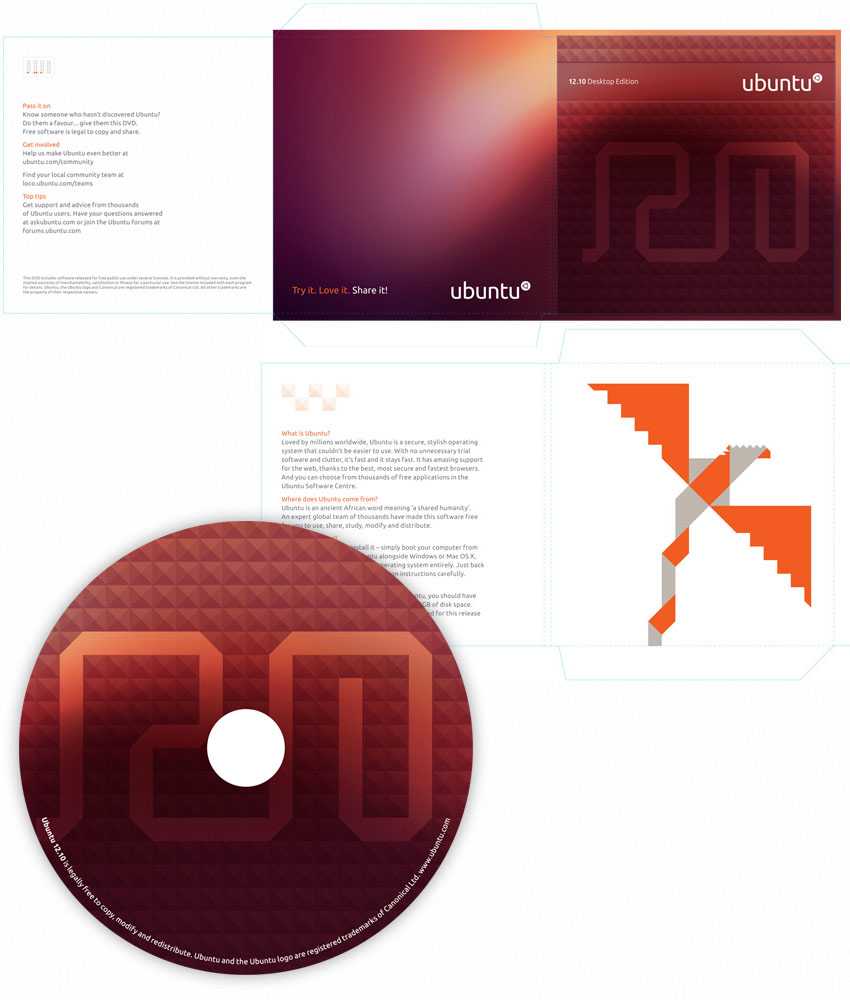 Ubuntu 12.10 Disc Artwork
