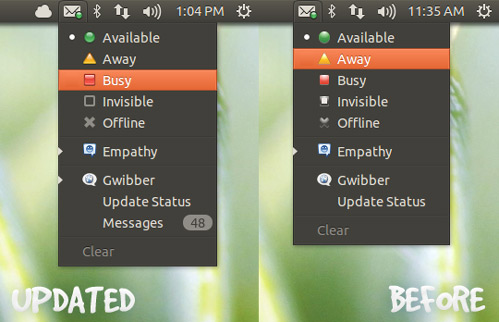 New Menu Icons in UBuntu