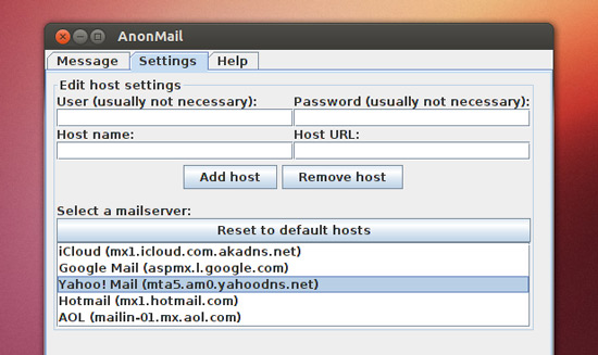Anonmail Presets