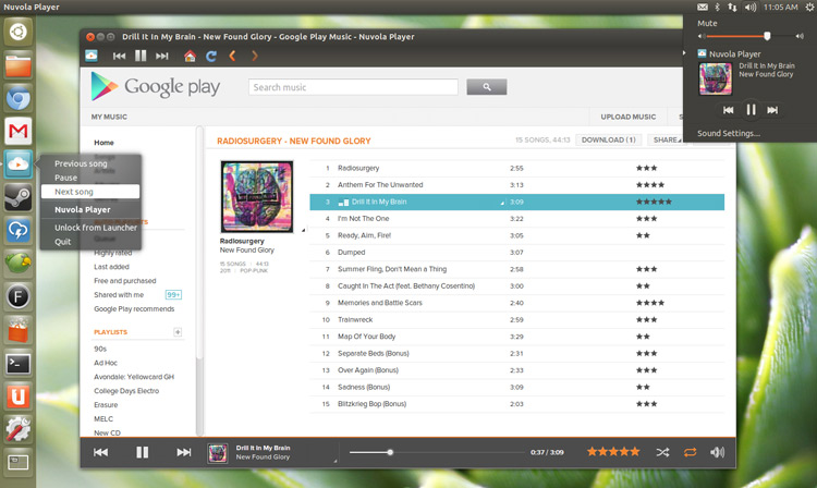 nuvola player in Ubuntu