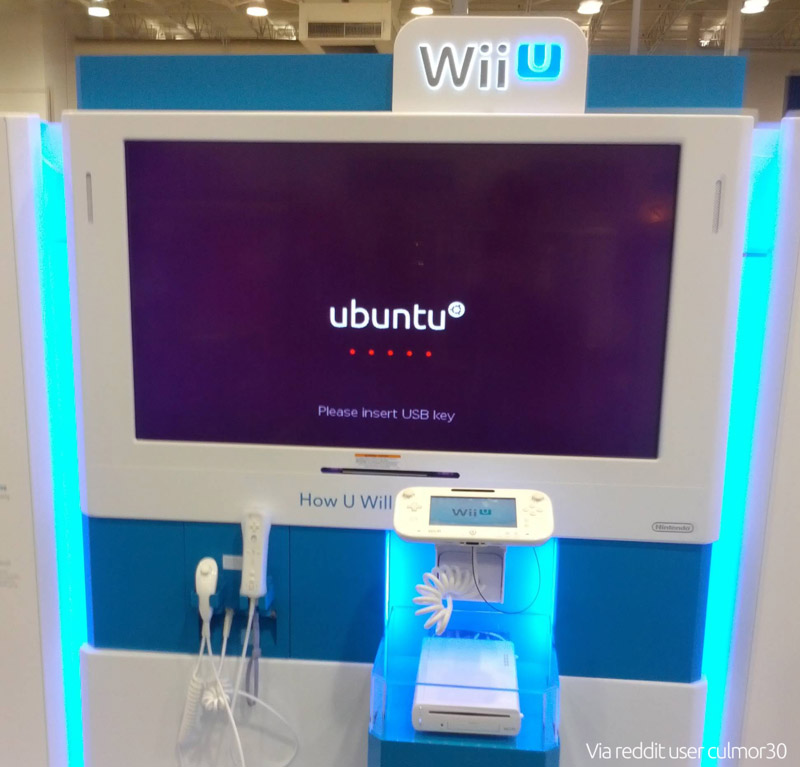 wii u ubuntu booth - real or fake?