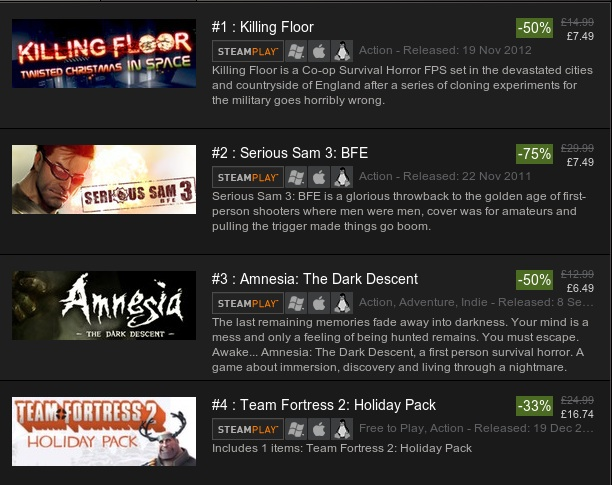steam linux games sale