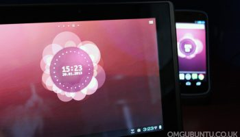 Ubuntu Phone Live Wallpaper works on tablets - albeit with some banding