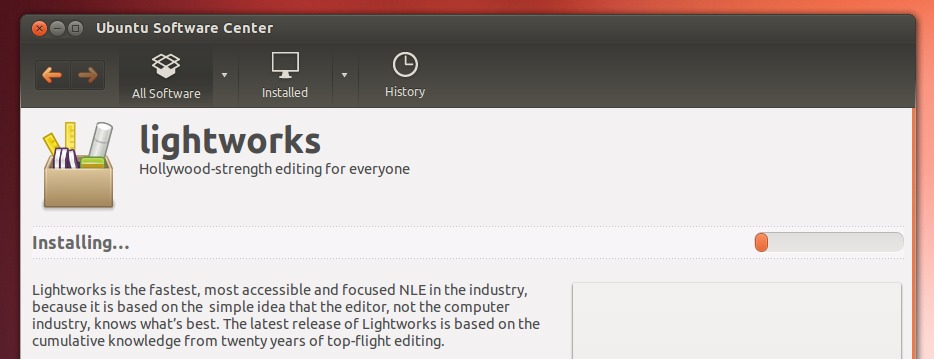 Lightworks for Linux