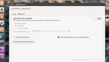 New Launcher Settings in Ubuntu 13.04