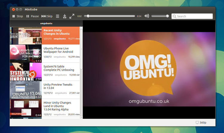 MiniTube YouTube App Adds Subscription Feature, Ubuntu