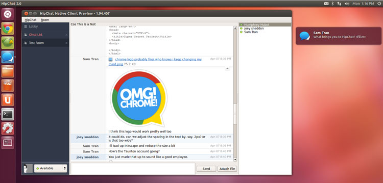Team IM App 'HipChat' Gets New Linux Release - OMG! Ubuntu!