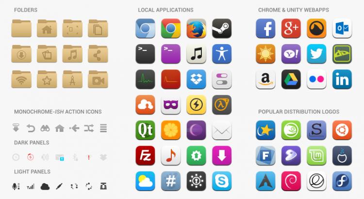 Moka, Icon Set Keren Buat Ubuntu