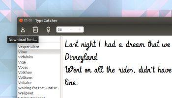 Typecatcher downloads google fonts