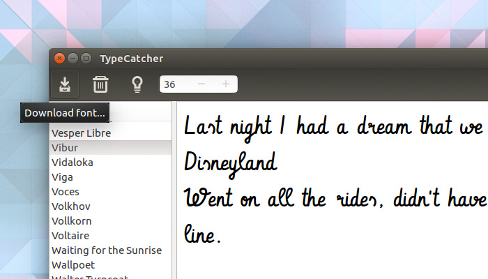 Use Typecatcher to Quickly Install Google Web Fonts on