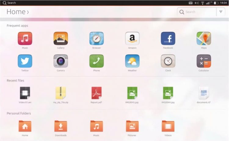 Ubuntu's new icons on Ubuntu for Tablets
