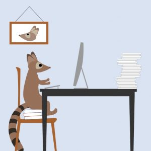 Raring Ringtail Illustration