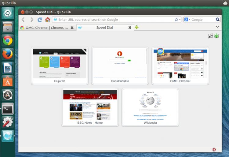 QupZilla 1.6.1 Ubuntu