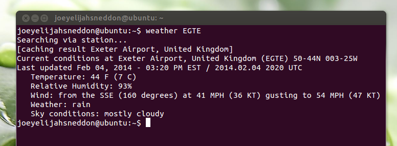 weather util ubuntu