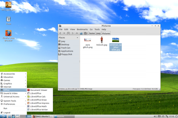 lubuntu windows xp