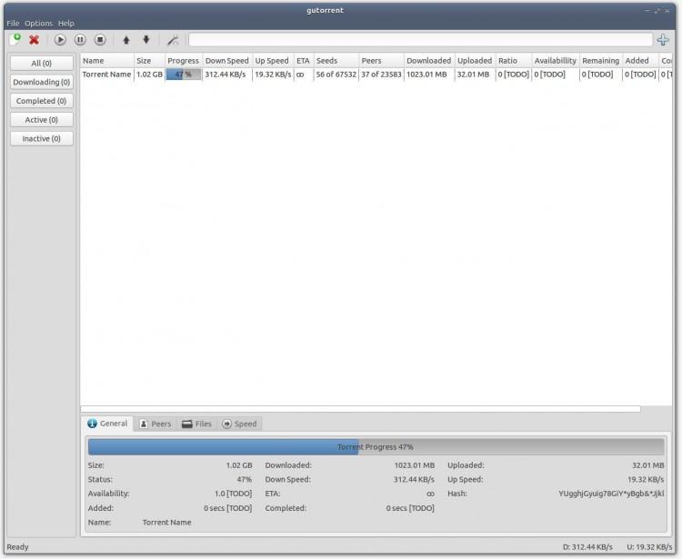 GuTorrent fo Linux