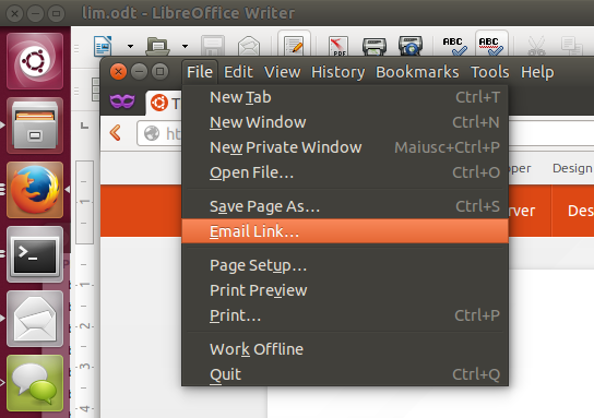 locally integrated menus in ubuntu