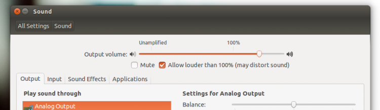 Ubuntu 14.04 Sound Past 100
