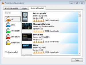 VLC-2.2-addons-manager