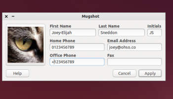 The MugShot Application in Xubuntu