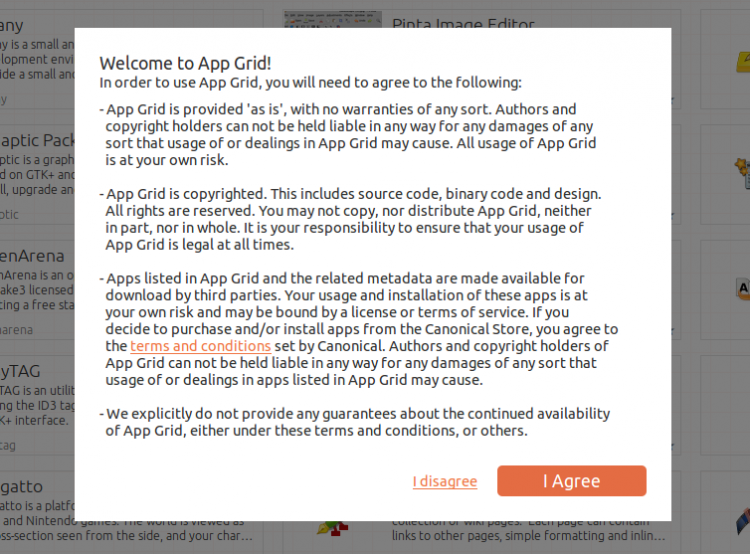 app grid prompt