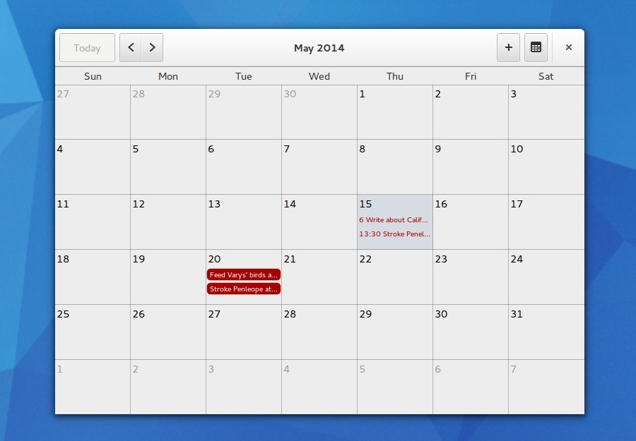 Monthly Calendar App : How to install california calendar app in ubuntu