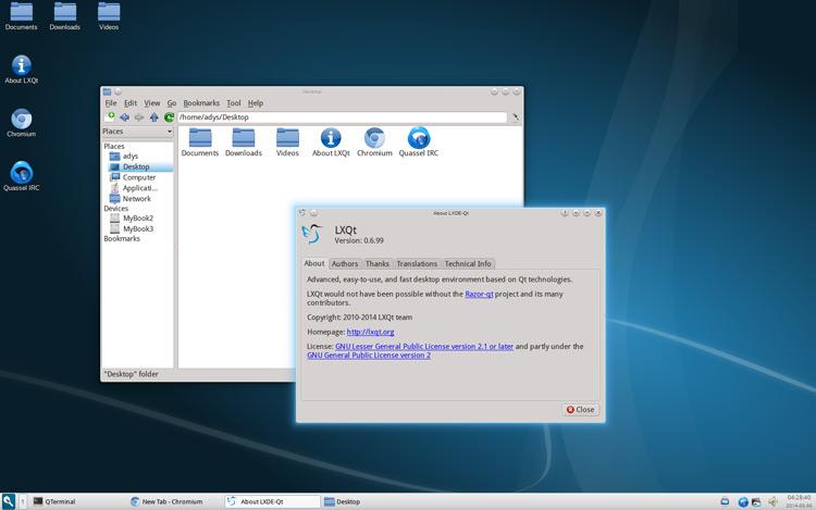 lxqt desktop screenshot