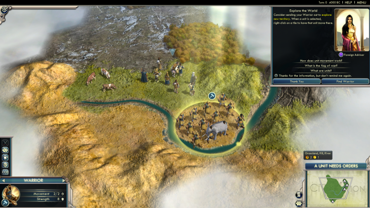Sid Meier's Civ 5 running on Linux