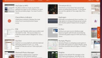 app grid main view