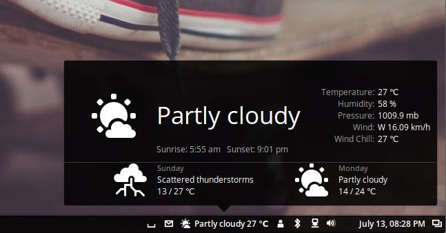 weather applet