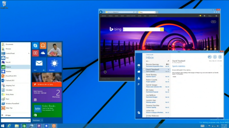 windows 9 desktop rumour