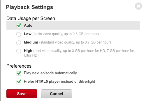 netflix html5 settings