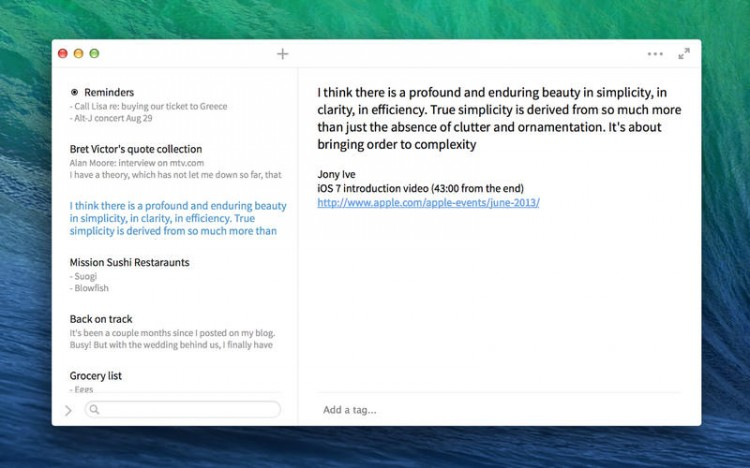 Simplenote's Mac app bridges gaps