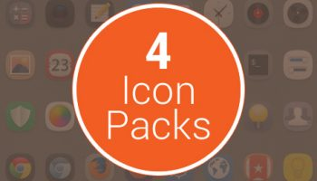 4 icon packs tile