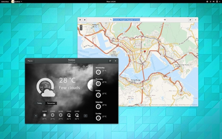 GNOME Weather & Maps in 3.14