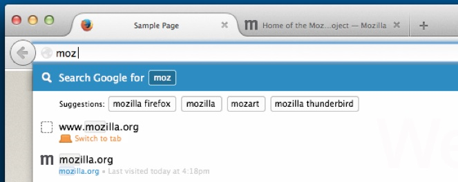firefox search suggestions in awesome bar
