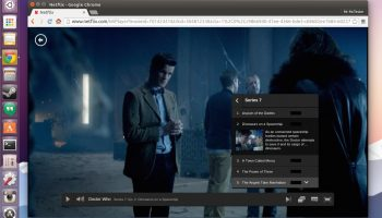 Netflix running in Google Chrome on Linux