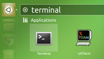 terminal icon in unity dash