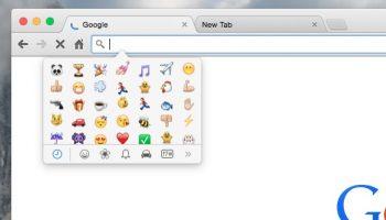 emoji picker in os x