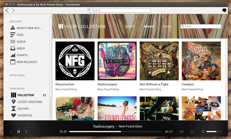 Tomahawk Music Player is